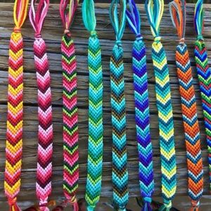 Custom chevron and beaded bracelets $6 bun…